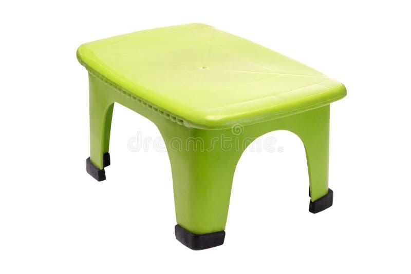 绿化塑料凳子 库存图片
