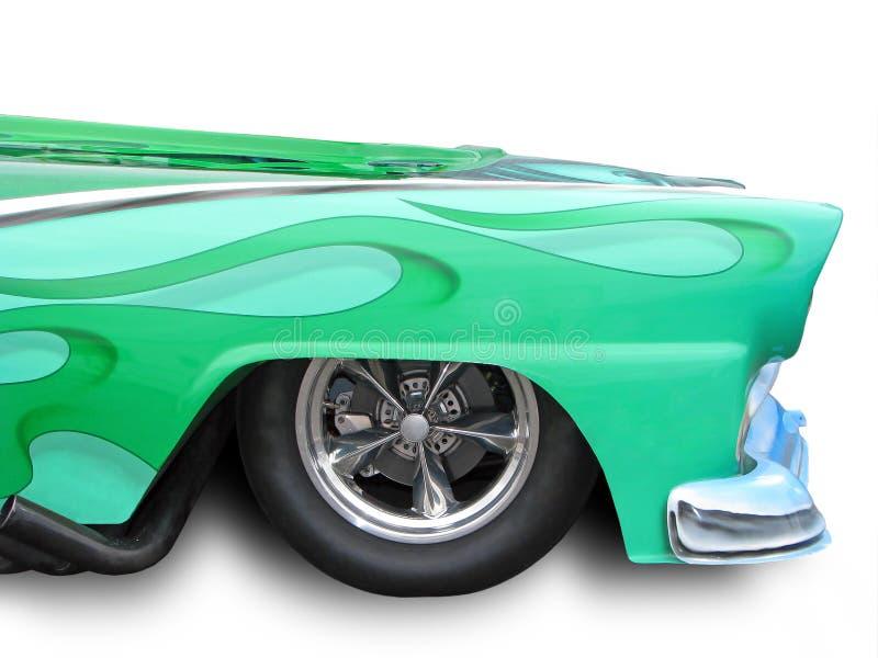 绿化旧车改装的高速马力汽车 免版税库存图片