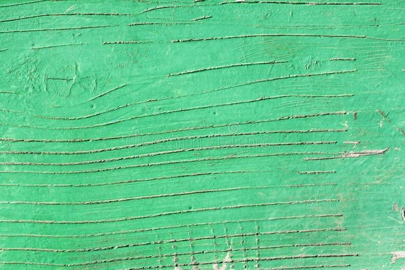 绿化木被绘的表面 免版税图库摄影