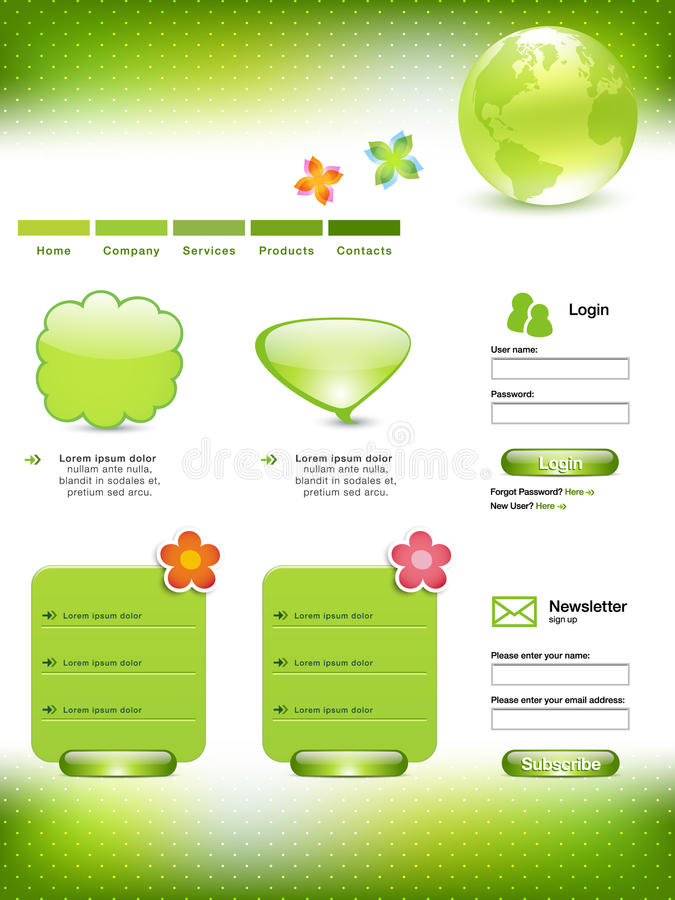 绿化模板网站 库存例证