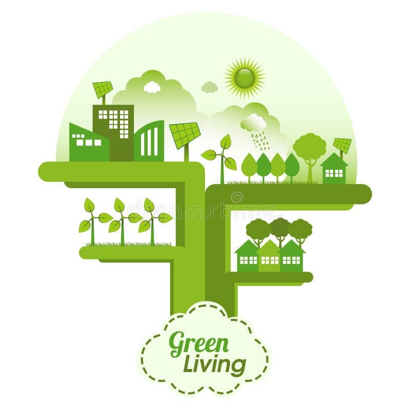 绿化生活 向量例证