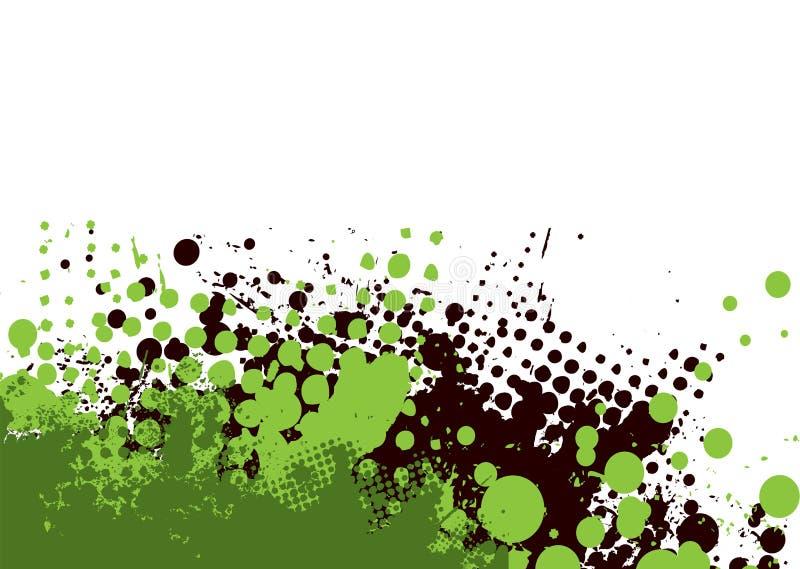 绿化细微的grunge 皇族释放例证