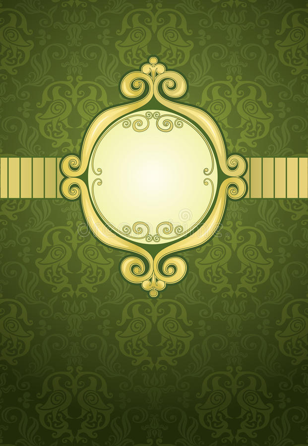 绿化装饰模式 库存例证