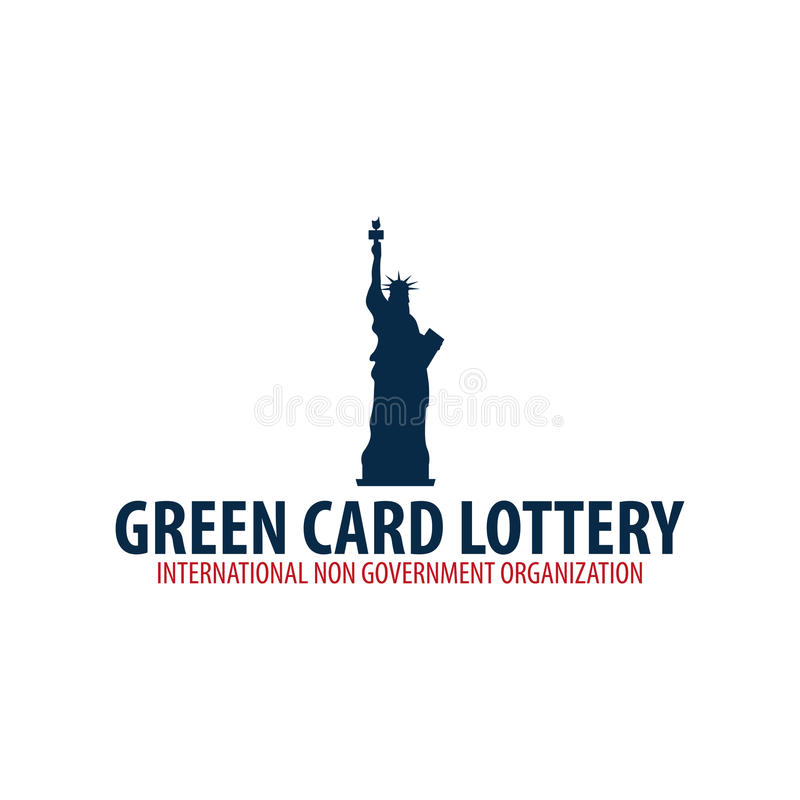 绿卡抽奖商标或象征 移民和签证向美国 皇族释放例证