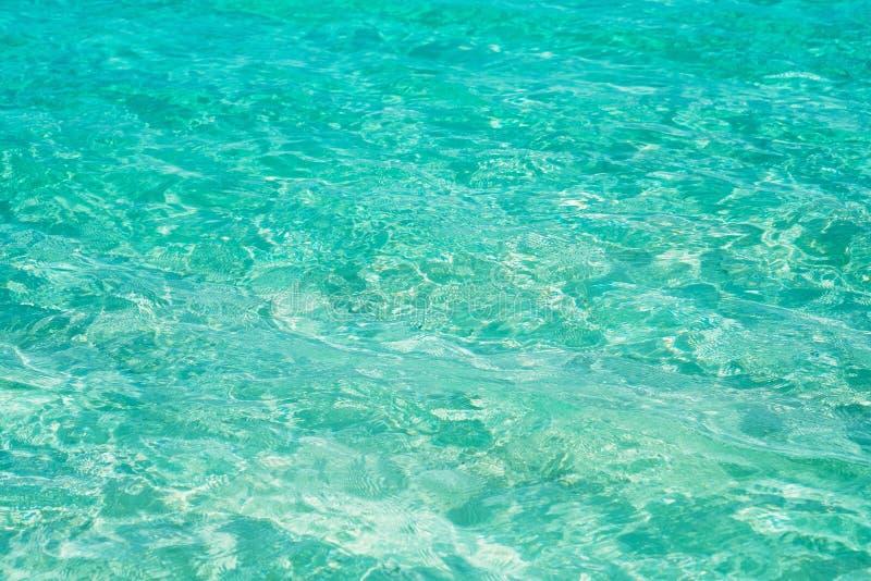 绿松石海洋表面纹理 免版税库存图片