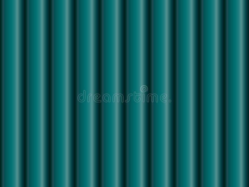 绿松石金属管子的无缝的样式 皇族释放例证