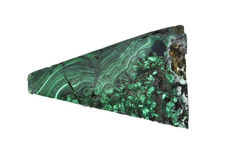 绿沸铜标本是一块绿色矿物石头为做幸运和迷住在生活中 库存图片