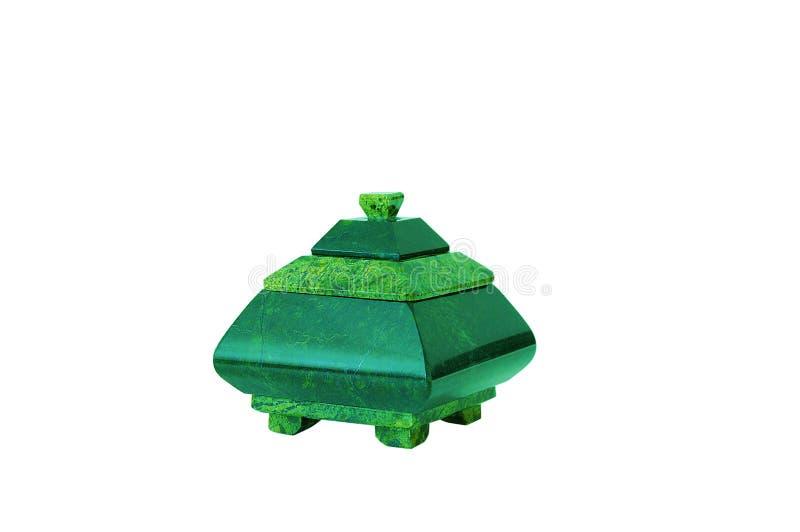 绿沸铜箱子 孤立 库存图片
