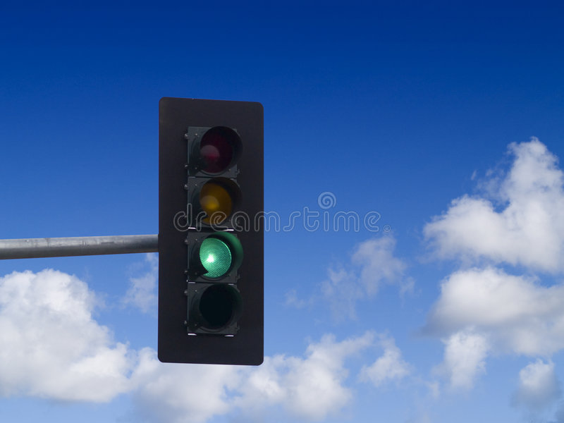绿灯业务量 免版税图库摄影