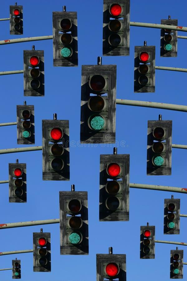 绿灯红色业务量 免版税库存照片