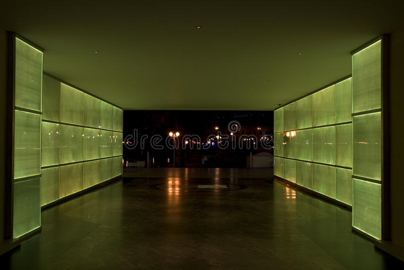 绿灯隧道 库存照片
