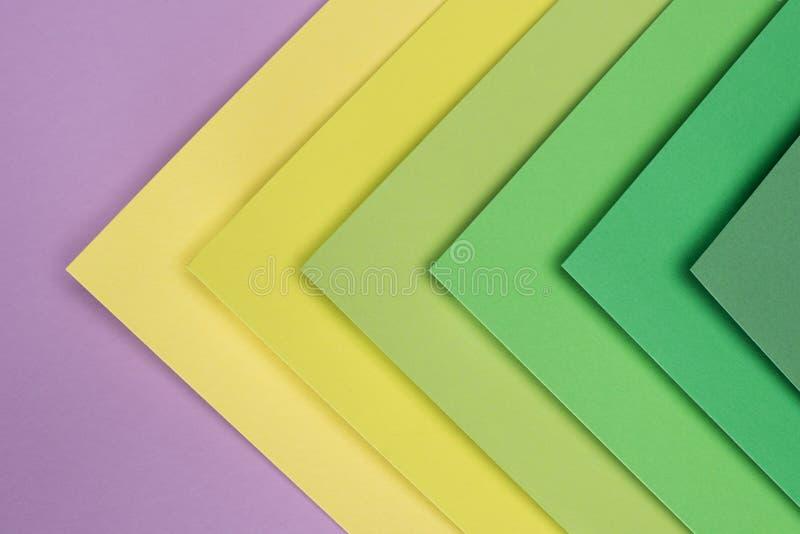 绿色、黄色和紫色 免版税库存图片