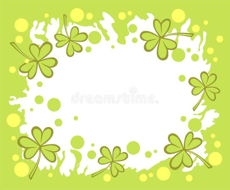 绿色三叶草背景 图库摄影