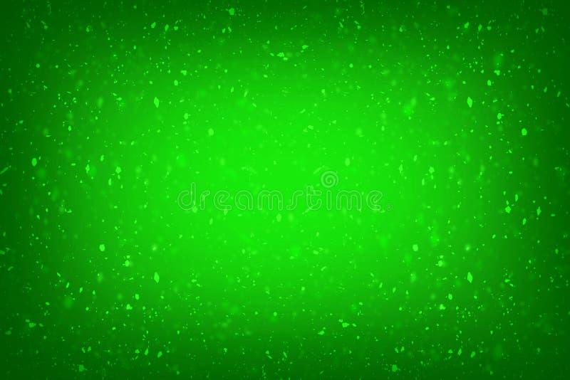 绿色与典雅的古色古香的油漆的背景绿色豪华富有的葡萄酒难看的东西背景纹理设计在墙壁illust 库存例证