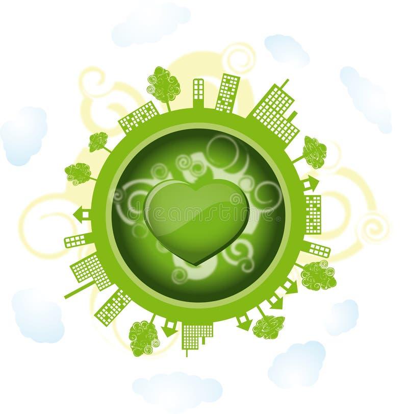 绿色世界 向量例证