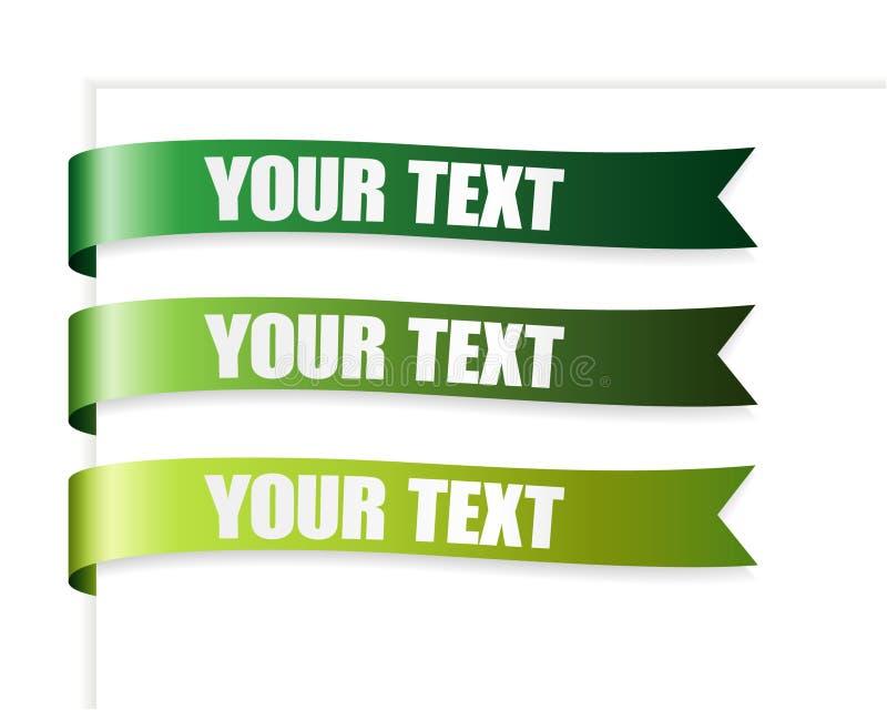 绿色丝带系列 向量例证