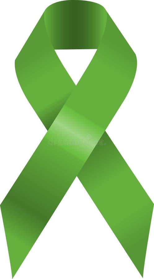 绿色丝带 向量例证