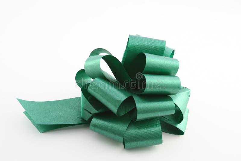 绿色丝带 库存照片