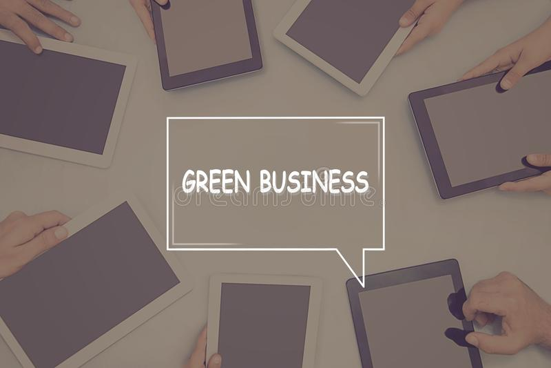 绿色企业概念企业概念 库存图片