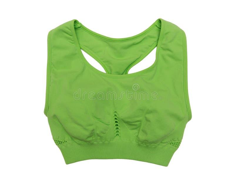 绿色体育顶面胸罩 库存照片
