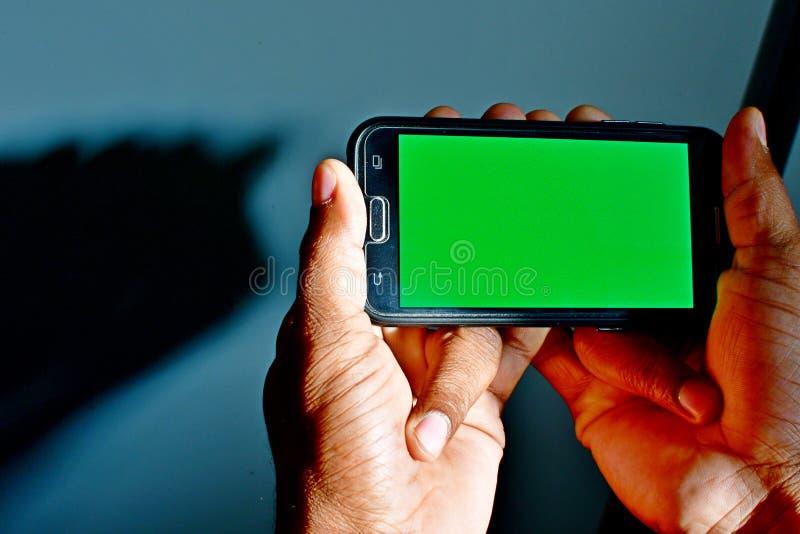 绿色使用的屏幕准备好背景作为背景或模板在网络设计 图库摄影