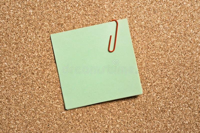 绿色便条纸 库存图片