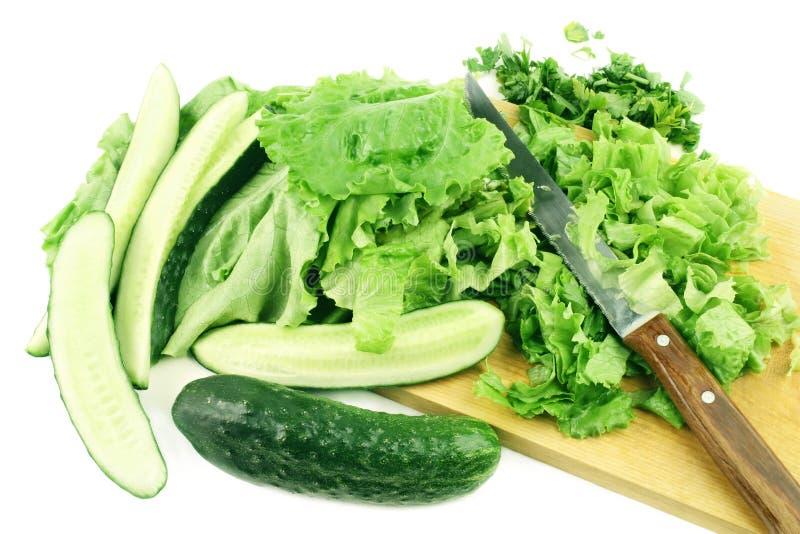 绿色健康沙拉蔬菜 库存照片