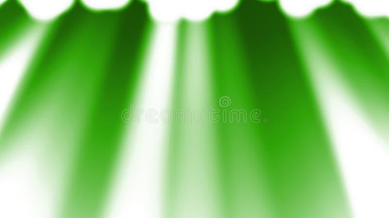 绿色光芒点燃背景 库存例证
