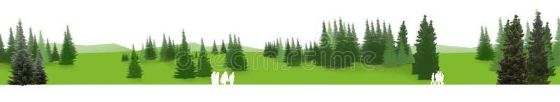 绿色全景 免版税库存图片