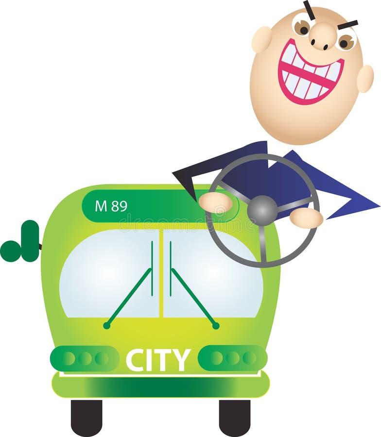 绿色公共汽车 免版税库存图片