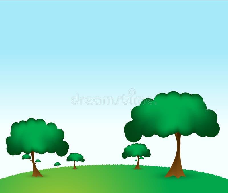绿色公园 向量例证