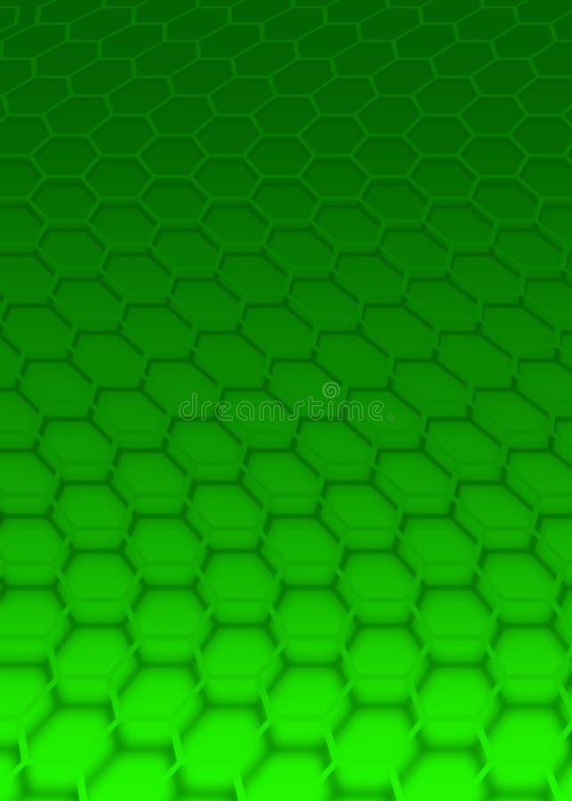 绿色六角形 皇族释放例证