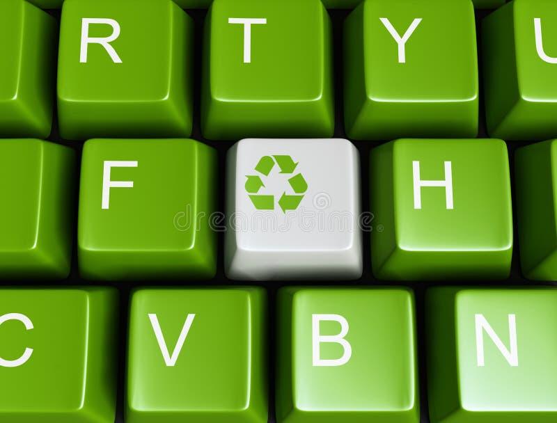 绿色关键董事会回收 库存例证