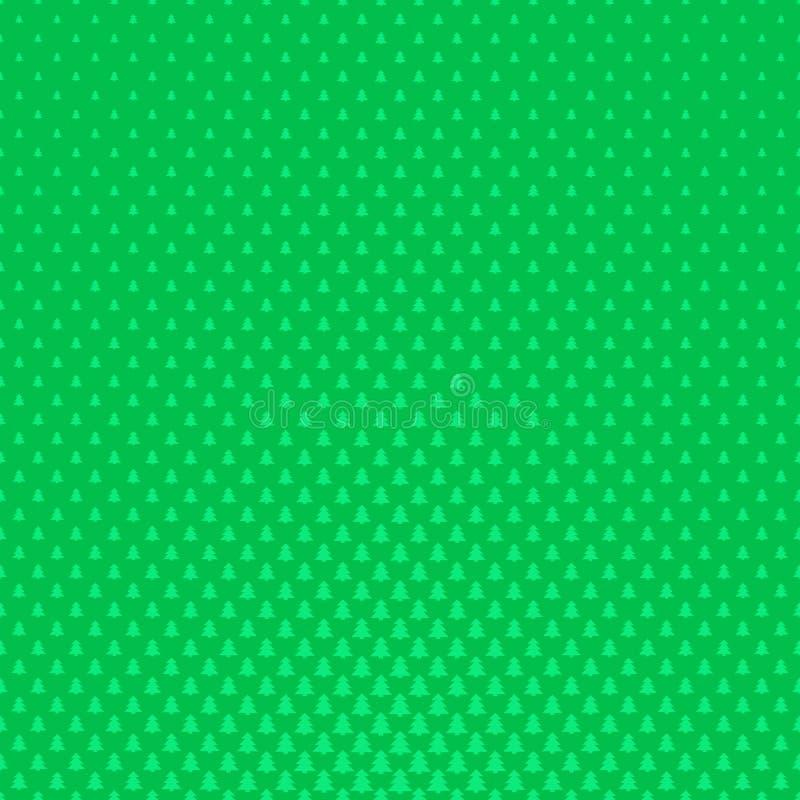 绿色减速火箭的风格化杉树森林样式背景图表-导航冬天装饰设计 库存例证