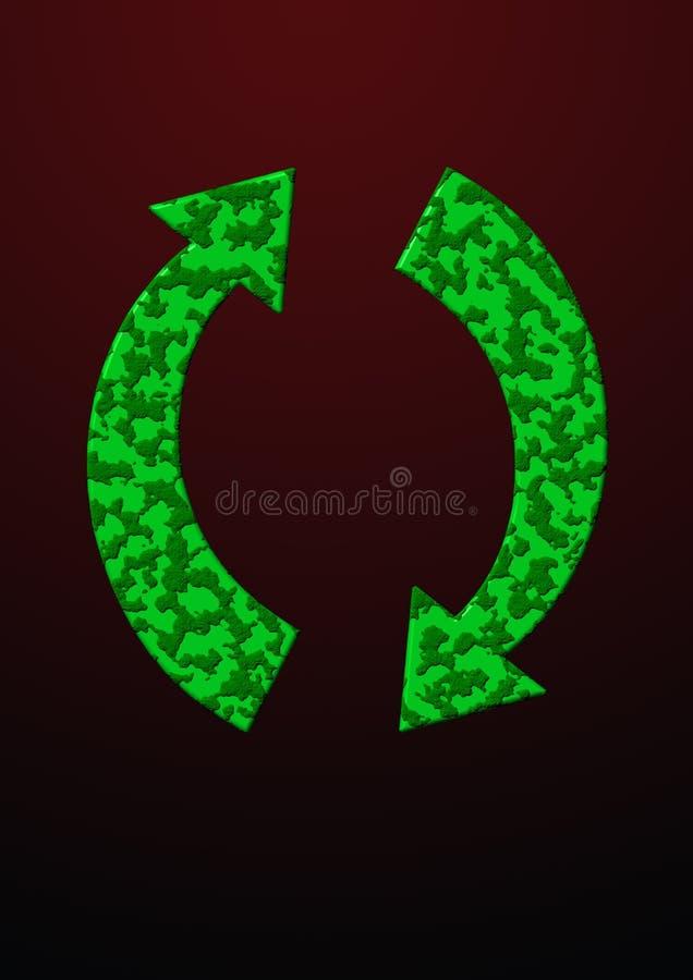 绿色刷新 向量例证