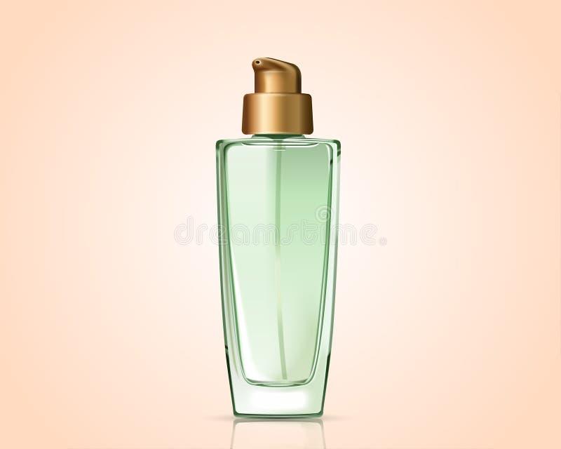 绿色化妆瓶 皇族释放例证