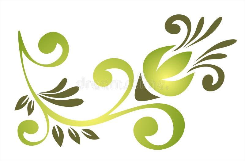 绿色华丽模式 库存例证