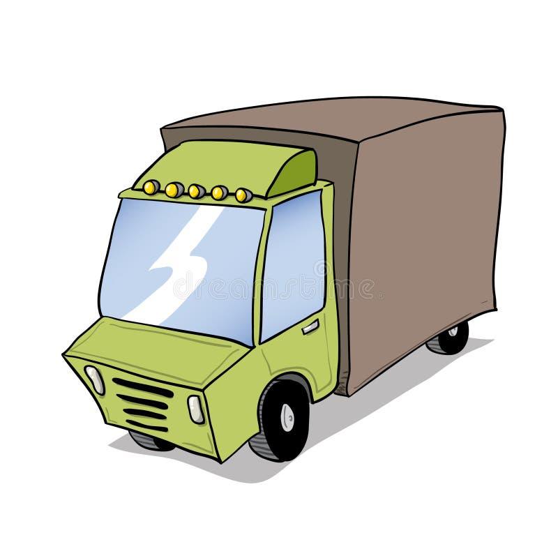 绿色卡车运动的家具 库存例证