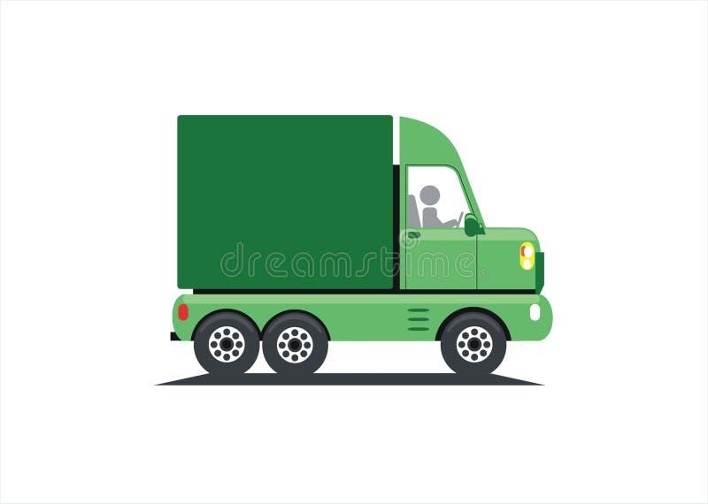 绿色卡车 库存例证