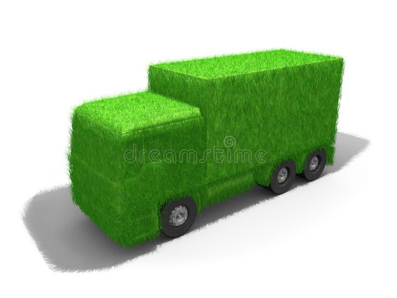 绿色卡车 向量例证