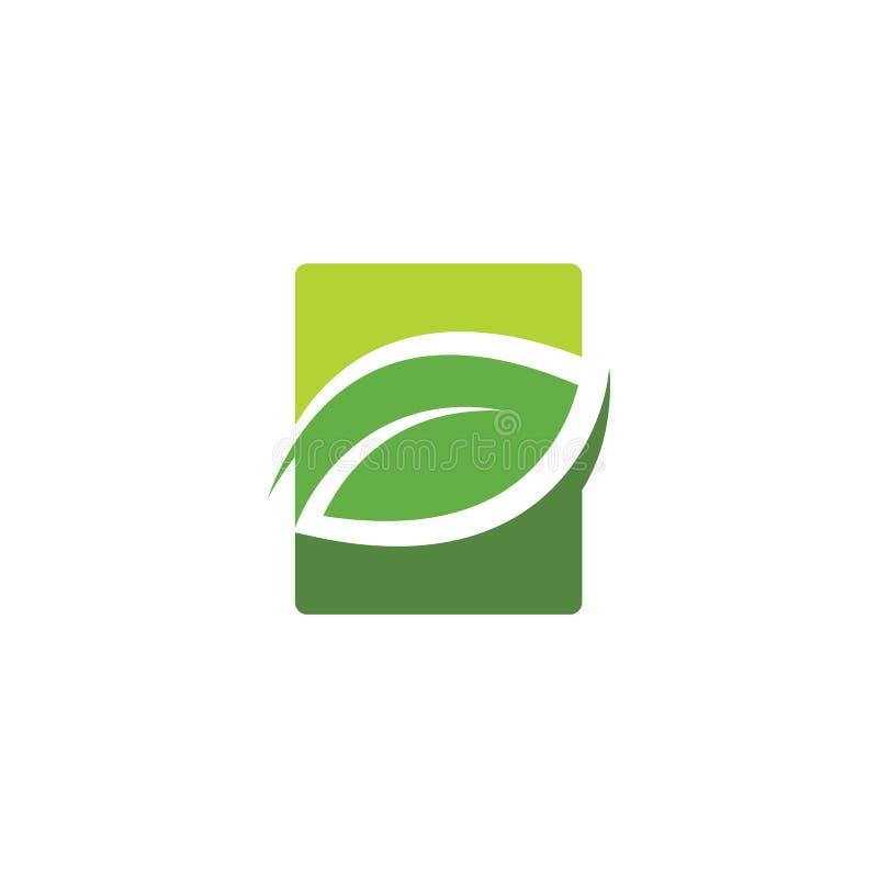 绿色叶子商标,象 库存例证