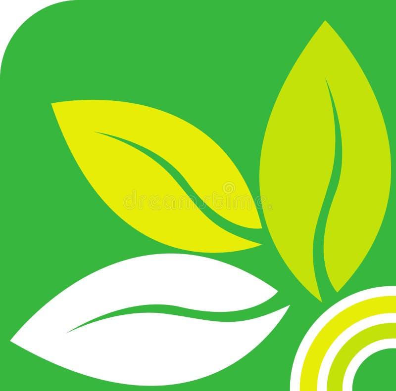 绿色叶子徽标 皇族释放例证