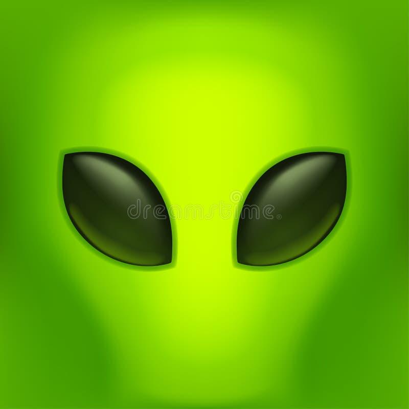 绿色后面的绿色外籍人 向量例证