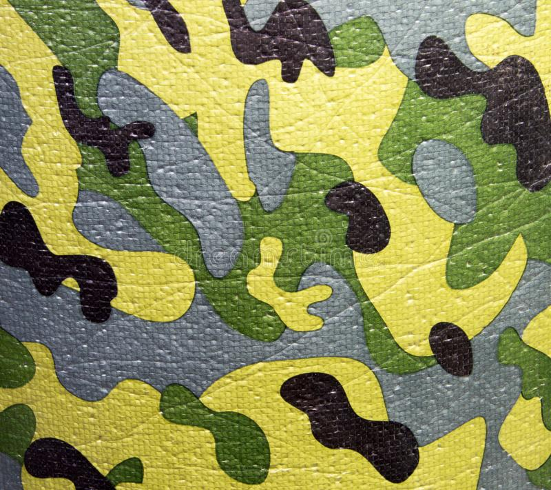 绿色和棕色军事伪装一致的样式 抽象背景和纹理设计的 免版税库存图片