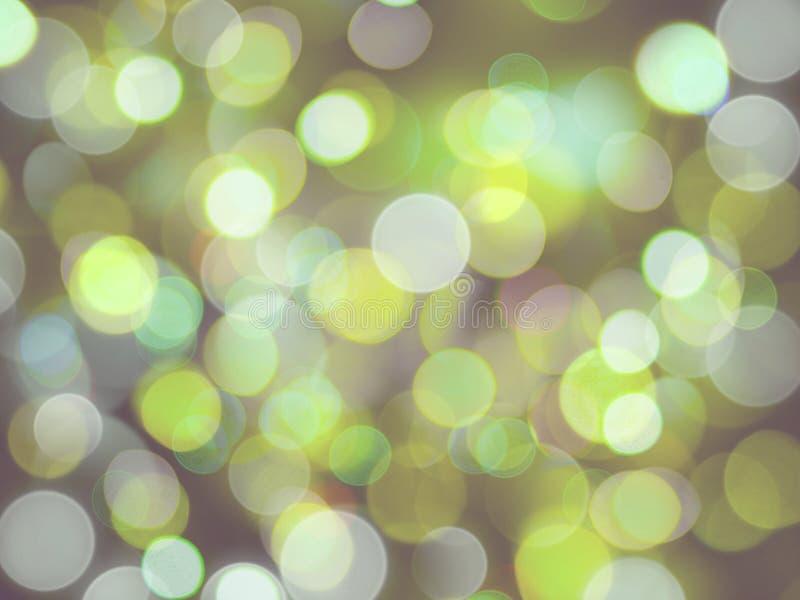 绿色和白色发光的圆的被弄脏的光充分的框架摘要 向量例证