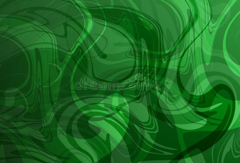 绿色和白色抽象衬里流洒了3个d传染媒介背景墙纸 向量例证