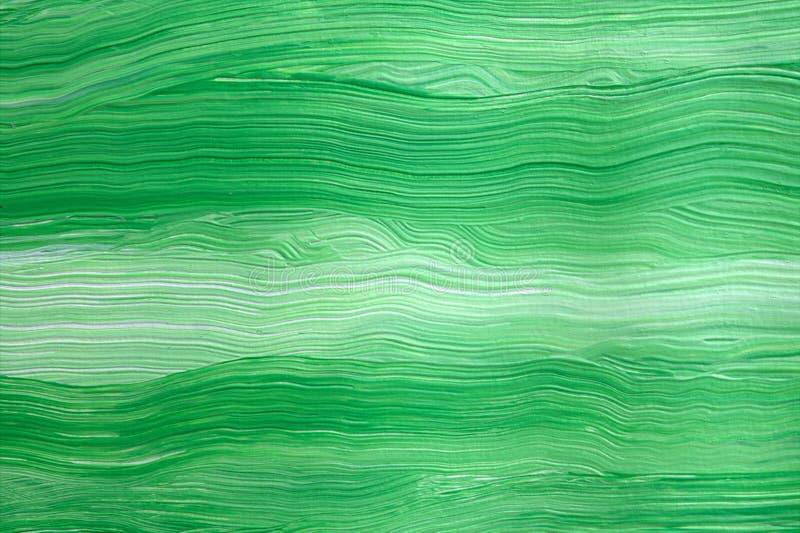 绿色和白色 抽象背景 丙烯酸漆 特写镜头 免版税库存照片