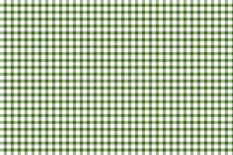 绿色和空白方格花布 向量例证