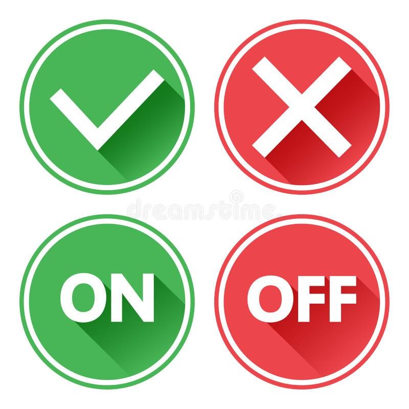 绿色和红色套按钮 r r ?? 皇族释放例证
