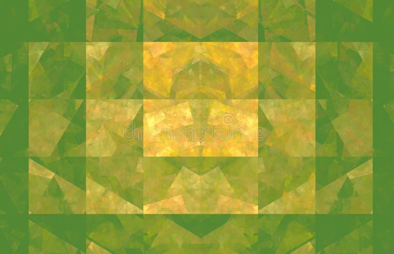 绿色和黄色背景 幻想样式纹理 r 3d?? 计算机生成的图象 皇族释放例证